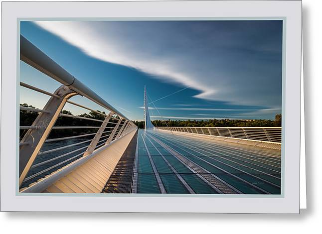 Sundial Bridge 1b Greeting Card by Leland D Howard