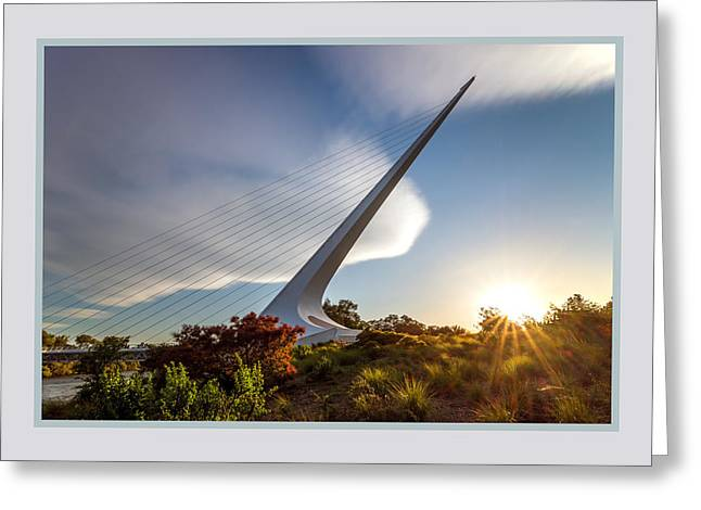 Sundial Bridge 3b Greeting Card by Leland D Howard