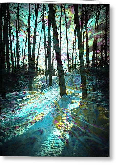 Design With Photography Greeting Cards - Sundog Reflections Greeting Card by Shirley Sirois