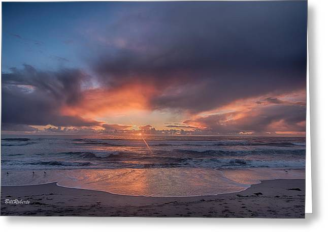 Monterey Bay Greeting Cards - Sundown At Moss Landing Greeting Card by Bill Roberts