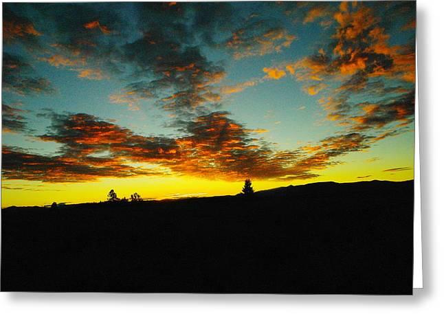 West Yellowstone Greeting Cards - Sundown In Yellowstone Greeting Card by Jeff  Swan