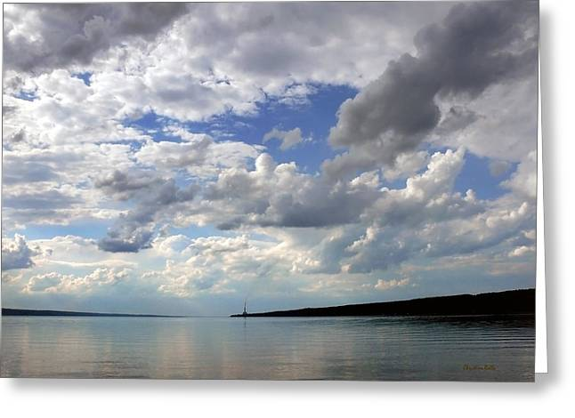 Finger Lakes Greeting Cards - Sundown On Cayuga Lake Greeting Card by Christina Rollo
