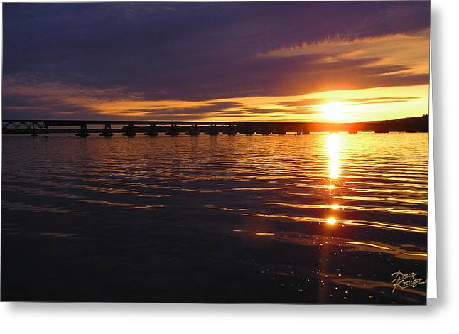 Lakes Pyrography Greeting Cards - Sundown on Lake Wisconsin Greeting Card by Doug Kreuger