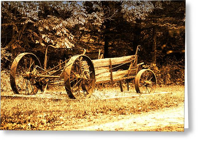 Calcined Greeting Cards - Sundown On The Honey Dew Wagon Greeting Card by Thomas Woolworth