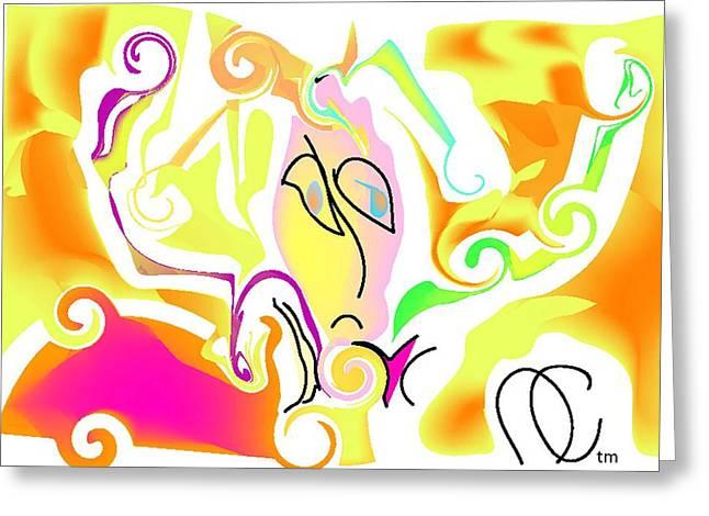 Swirls Of Energy Greeting Cards - Sundown Sensation Greeting Card by Andy Cordan