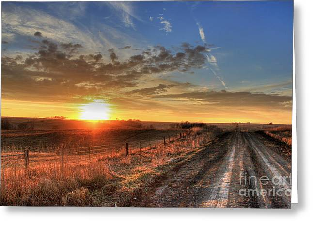 Backroads Greeting Cards - Sundown Greeting Card by Thomas Danilovich