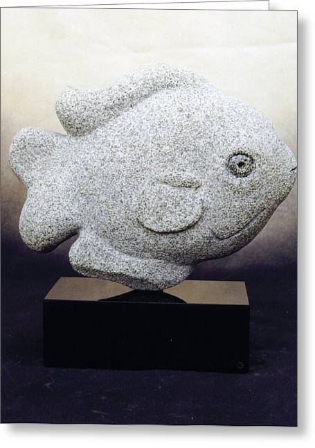 Granite Sculptures Greeting Cards - Sunfish Greeting Card by Leslie Dycke
