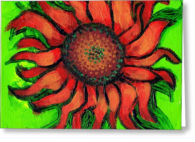 Sunflower 3 Greeting Card by Genevieve Esson