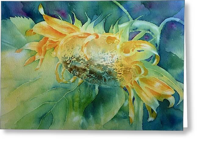 Sunflower 3 Greeting Card by Thomas Habermann
