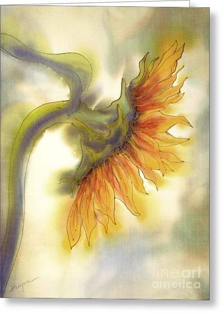 Sunflower  Greeting Card by Addie Hocynec