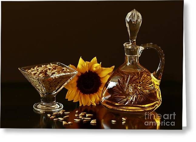 Sunflower And Crystal Greeting Card by Inspired Nature Photography Fine Art Photography