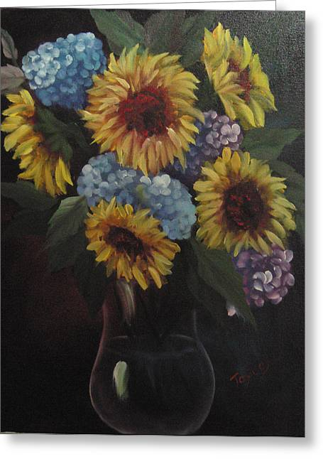 Decour Greeting Cards - Sunflower arrangement Greeting Card by Samuel Jaycox