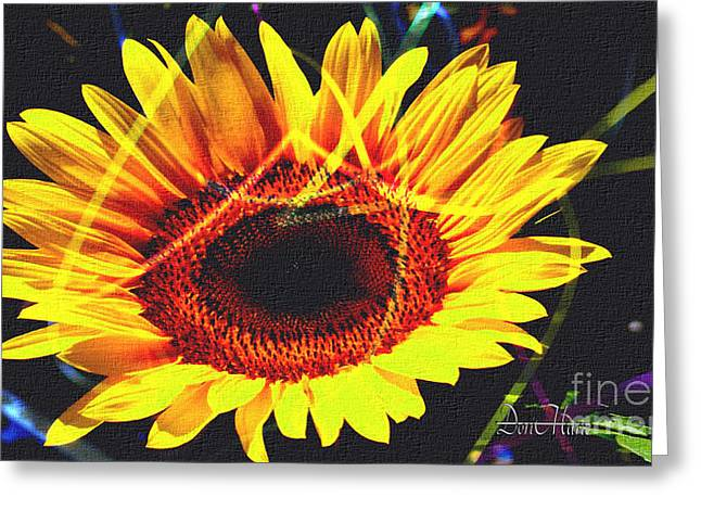 print Mixed Media Greeting Cards - Sunflower Art Print Greeting Card by Dori Marie Art By Design
