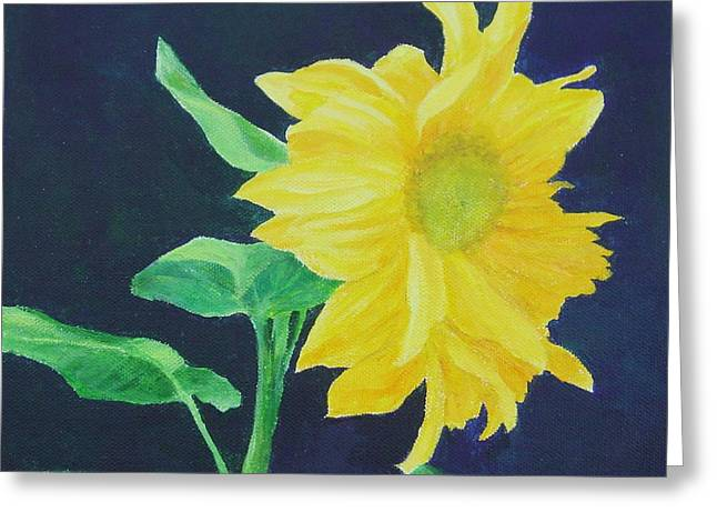 Sunflower Ballet Original Colorful Art Greeting Card by K Joann Russell