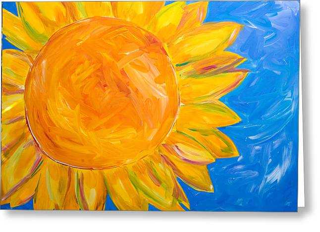 Recently Sold -  - Yellow Sunflower Greeting Cards - Sunflower Greeting Card by Beth Cooper
