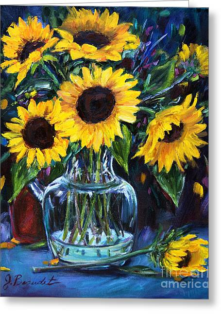 Sunflower Bouquet  Greeting Card by Jennifer Beaudet