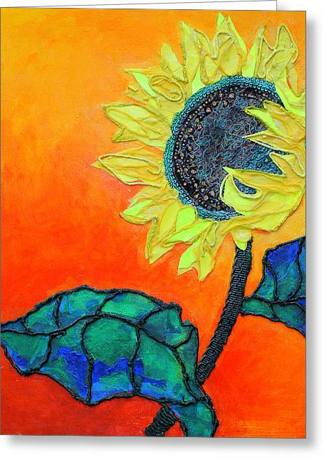 Diane Fine Greeting Cards - Sunflower Greeting Card by Diane Fine