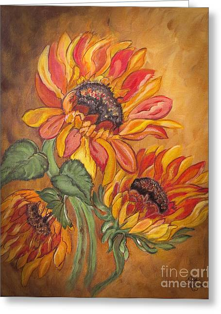 Sunflower Enchantment Greeting Card by Ella Kaye Dickey