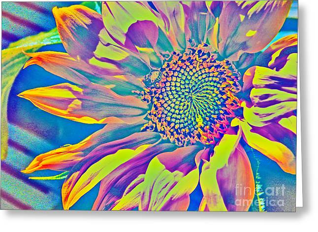 Hallucination Greeting Cards - Sunflower Fantasy Greeting Card by Dale Jackson