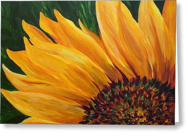Sunflower From Summer Greeting Card by Mary Jo Zorad