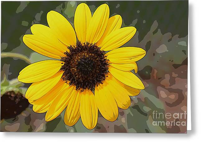 Stamen Digital Art Greeting Cards - Sunflower in the Summertime Greeting Card by Janice Rae Pariza