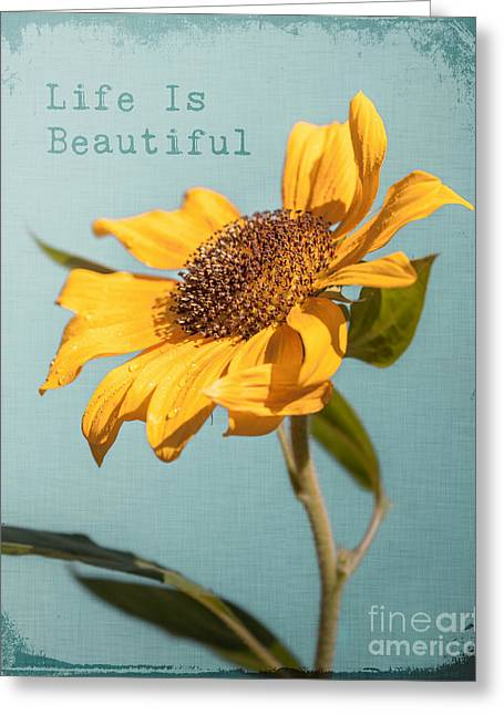 Sunflower Greeting Card by Lucid Mood