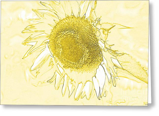 Wet In Wet Watercolor Greeting Cards - Sunflower Make Me Smile Greeting Card by Diana  Tyson