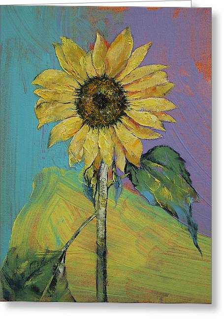 Gelb Greeting Cards - Sunflower Greeting Card by Michael Creese