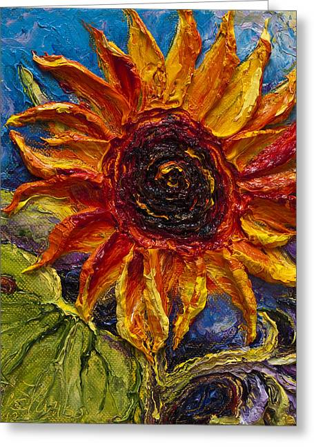Paris Wyatt Llanso Greeting Cards - Sunflower Greeting Card by Paris Wyatt Llanso