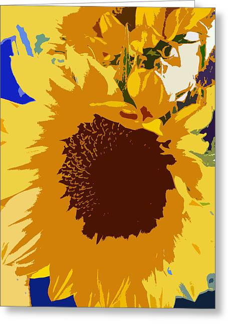 Original Photographs Greeting Cards - Sunflower Pop Greeting Card by Colleen Kammerer