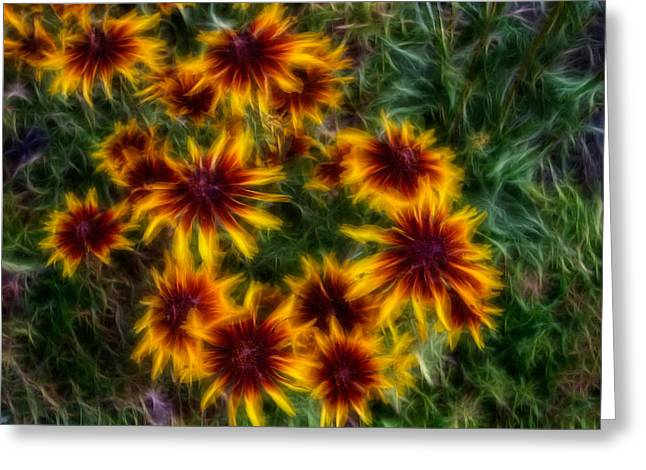 Methow Valley Greeting Cards - Sunflower Saturation Greeting Card by Omaste Witkowski