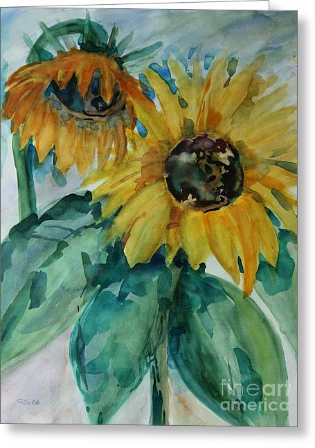 Christiane Schulze Greeting Cards - Sunflower - SOLD Greeting Card by Christiane Schulze Art And Photography