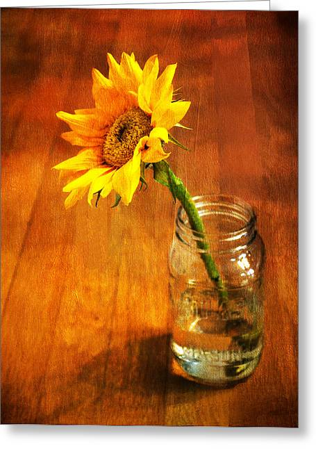 Sandi Oreilly Greeting Cards - Sunflower Still Life Greeting Card by Sandi OReilly