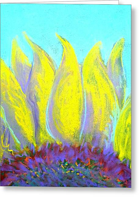Loose Greeting Cards - Sunflower Greeting Card by Sue Jacobi