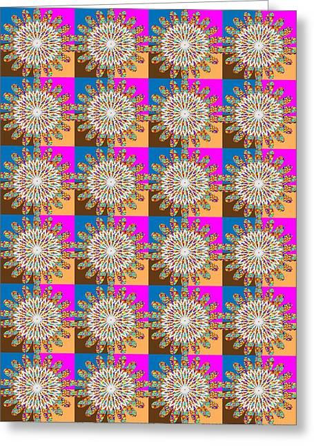 Reprint Greeting Cards - SUNFLOWER Sunchakra Energy Graphics Greeting Card by Navin Joshi