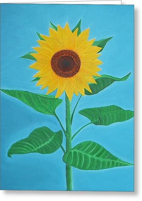 Schlafzimmer Greeting Cards - Sunflower Greeting Card by Sven Fischer