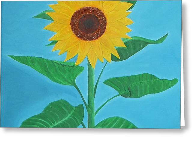 Sunflower Greeting Card by Sven Fischer