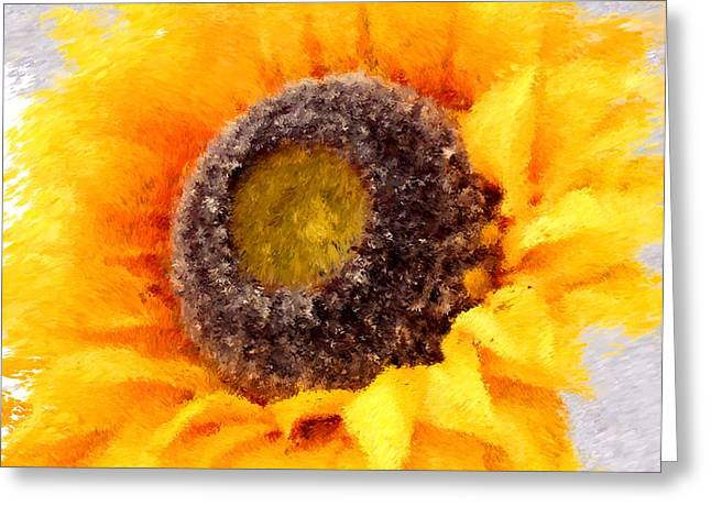 Charlotte Digital Art Greeting Cards - Sunflower Two Greeting Card by Morgan Carter