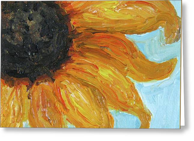 Interior Still Life Mixed Media Greeting Cards - Sunflower Greeting Card by Venus