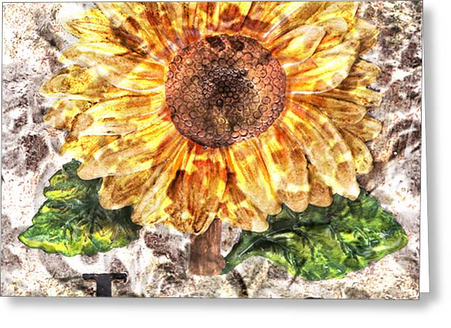 Reflection Harvest Mixed Media Greeting Cards - Sunflower with hope and Love Greeting Card by Art World