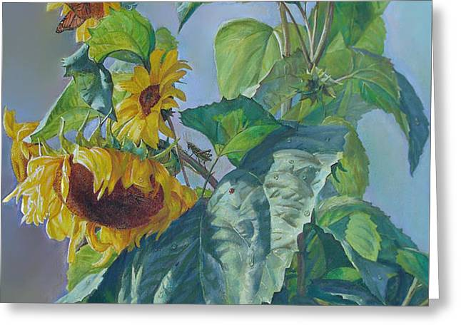 Sunflowers After the Rain Greeting Card by Svitozar Nenyuk