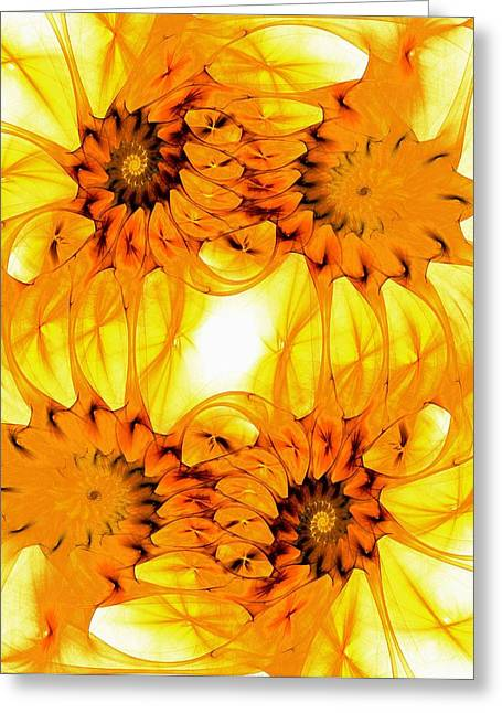 Connection Mixed Media Greeting Cards - Sunflowers Greeting Card by Anastasiya Malakhova
