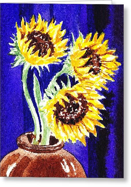 Sunflower Decor Greeting Cards - Sunflowers Bouquet  Greeting Card by Irina Sztukowski