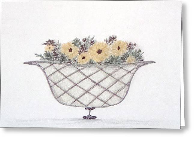 Basket Pastels Greeting Cards - Sunflowers Greeting Card by Christine Corretti