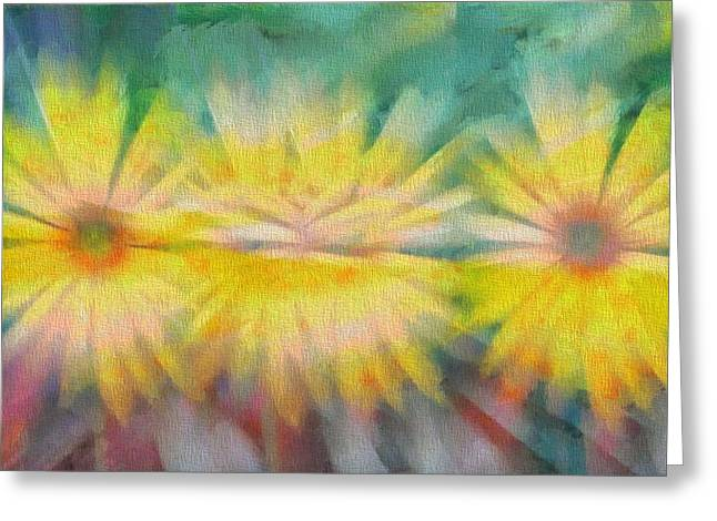 Abstract Sunflower Greeting Cards - Sunflowers Greeting Card by Dan Sproul