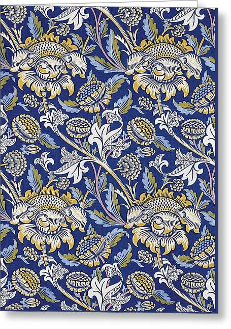 Tapestry Tapestries - Textiles Greeting Cards - Sunflowers design Greeting Card by William Morris