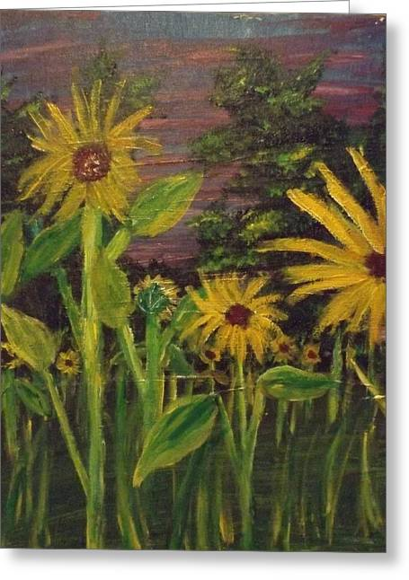 Sunflower Patch Greeting Cards - Sunflowers Greeting Card by Erik Terrell