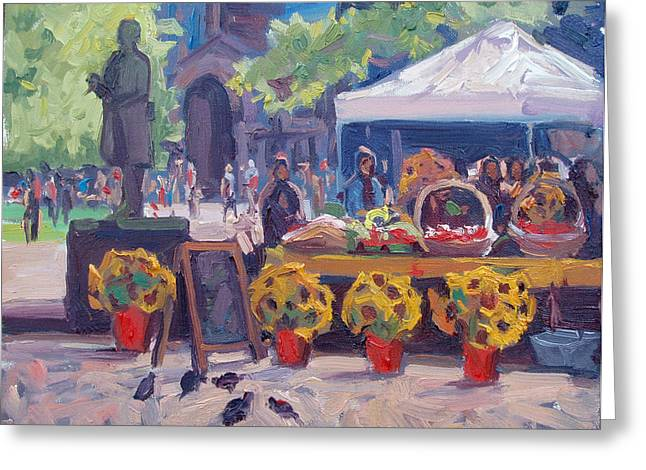John Singleton Copley Greeting Cards - Sunflowers for Sale Greeting Card by Dianne Panarelli Miller