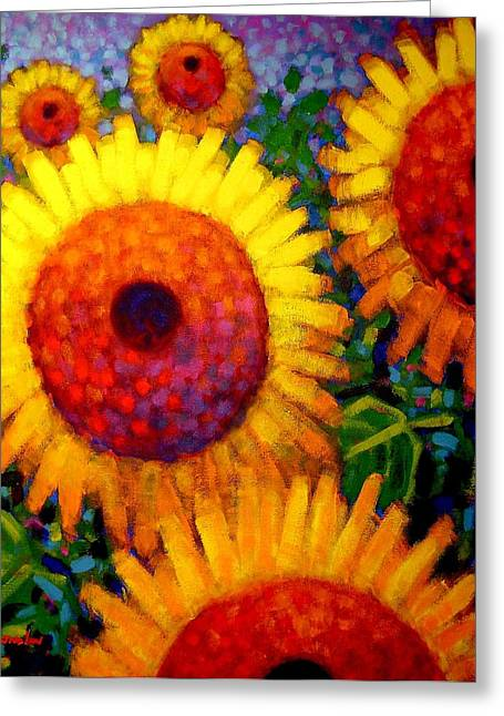Sun Flower Greeting Cards - Sunflowers Greeting Card by John  Nolan