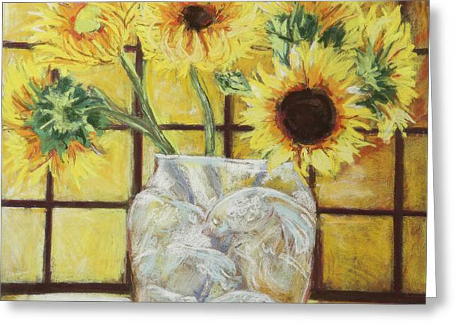 sunflowers Greeting Card by Michael Crapser